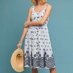 Anthropologie Maeve Savoy Buttondown Dress Floral